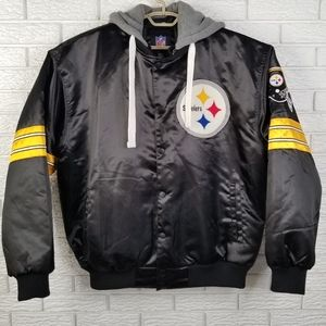 Official NFL Hooded Satin Jacket XL Steelers